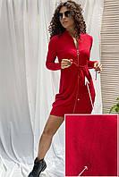 Трикотажное платье с маленьким браком ebelieve - красный цвет, M/L (есть размеры)