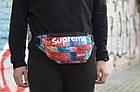 Сумка на пояс Бананка Барыжка Supreme Суприм Краски Разноцветная с узором, фото 2
