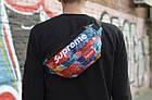 Сумка на пояс Бананка Барыжка Supreme Суприм Краски Разноцветная с узором, фото 4