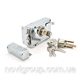Замок до дверей з набором лазерних ключів (4 шт) вага 0.595