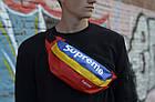 Сумка на пояс Бананка Барыжка Supreme Суприм Сине-Красно-Желтая Разноцветная, фото 2