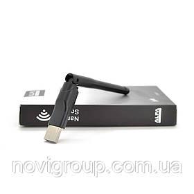 Бездротовий мережевий адаптер з антеною 10см Wi-Fi-USB LV/CL-UW07, RT7601, 802.11 bgn, 300MB, 2.4 GHz, WIN7 / XP / Vista / 2K / MAC / LINUX, Blister