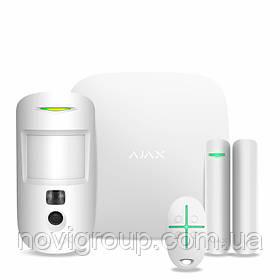 Комплект бездротової сигналізації Ajax StarterKit Cam white ( Hub 2/MotionCam/DoorProtect/SpaceControl )