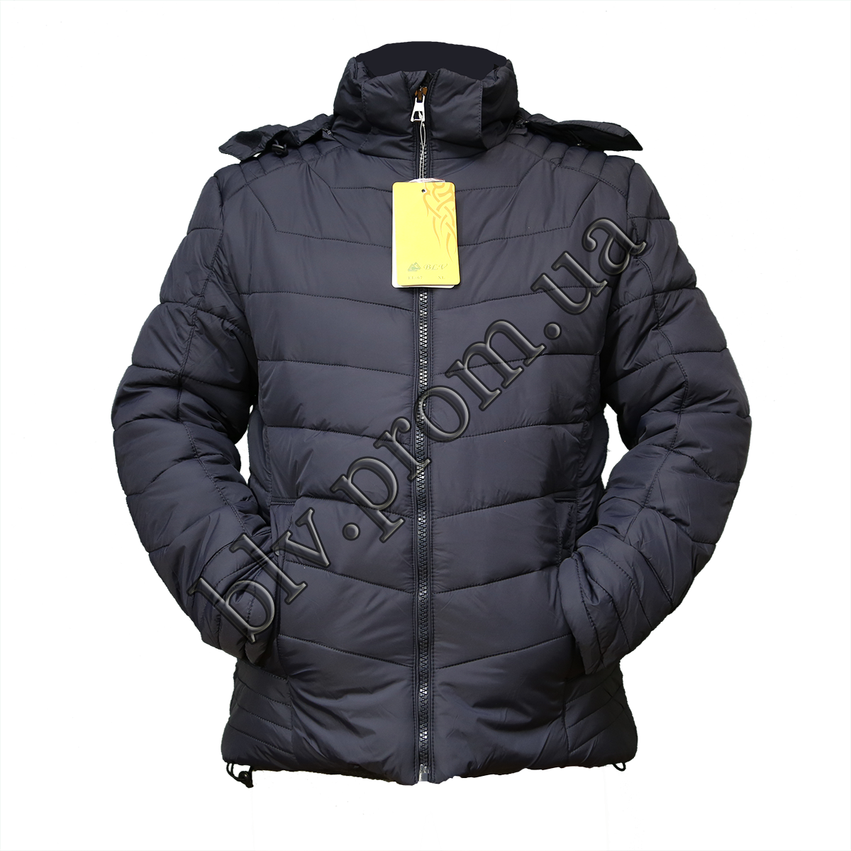 "Зимняя куртка мужская теплая на синтепоне тм. ""Boulevard""  EL-67 Dark blue"