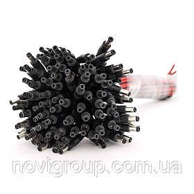 Роз'єм живлення DC-M (D 5,5x2,5мм) => кабель довжиною 30см black -red, Black plug OEM Q100