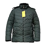 """Мужская теплая куртка на синтепоне тм. """"Boulevard""""  EL-67 Green"""