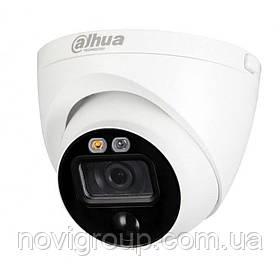 2 МП HDCVI вуличні / внут камера активного реагування DH-HAC-ME1200EP-LED (2.8 мм)
