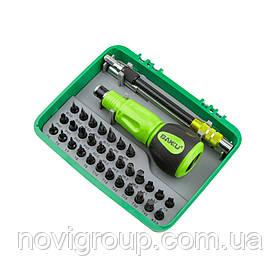 Набір викруток BAKKU BK-3034 (Ручка + 34насадок), Box