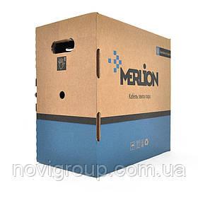 Кабель MERLION КПВ-ВП 4*2*0,50  (UTP-cat.5E), CU,оболонка ПВХ, для внутр. робіт, 305м.