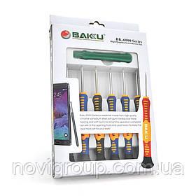 """Набір інструментів BAKKU BK-6000 (Викрутки: T2, T3, T5, T6, """"мерс"""" 1.5, крест1.7, Пінцети: прямий, вигнутий"""