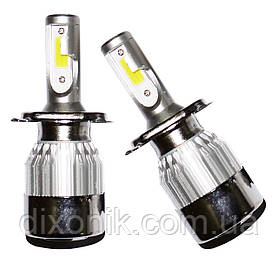 Светодиодные лампы C6 в автомобильные фары с цоколем H4 Xenon LED БиКсенон 36W 12V 3800K