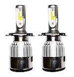 Светодиодные лампы C6 в автомобильные фары с цоколем H4 Xenon LED БиКсенон 36W 12V 3800K, фото 2
