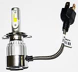 Светодиодные лампы C6 в автомобильные фары с цоколем H4 Xenon LED БиКсенон 36W 12V 3800K, фото 5
