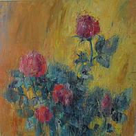 Картина Розы для декора дома. Интерьерная картина Розы