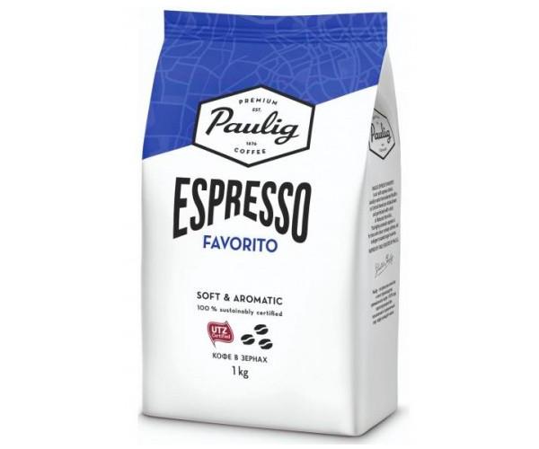 Кофе Paulig Espresso Favorito в зернах 1 кг