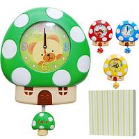 Часы настенные Детские Домик кварц.пластик 27,5*5,5*39 см