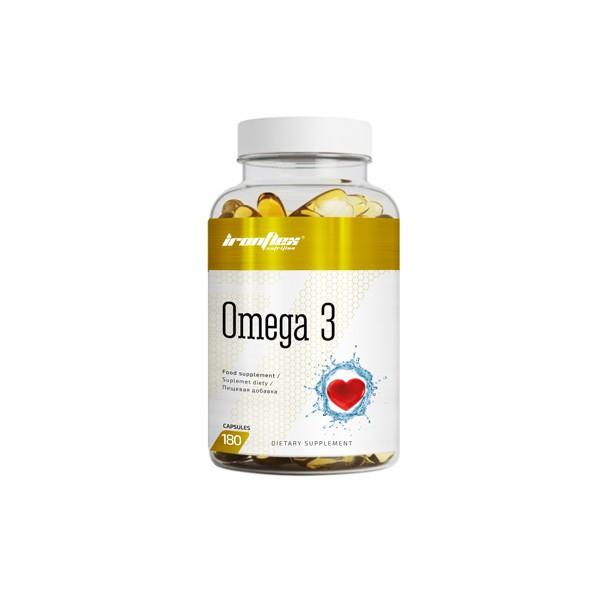Жирные кислоты IronFlex Omega 3, 180 капсул