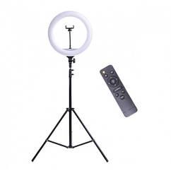 Кольцевая лампа на штативе Ring для блогера / селфи / визажиста D 32 см с пультом ДУ (00-0000556) sale
