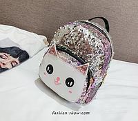 Рюкзак Котик в паетках, фото 1