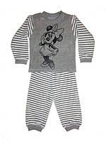 Пижама велюровая на девочку Микки серая 86-104 р