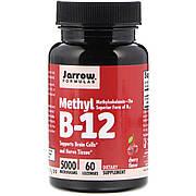 Метил B-12 со вкусом вишни, 5000 мкг, Methyl B-12, Jarrow Formulas, 60 леденцов