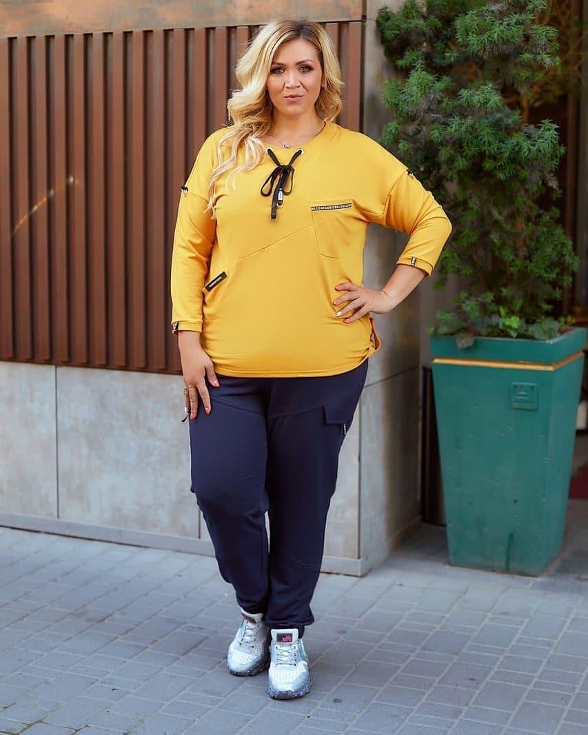 Женский прогулочный костюм из двухнитки больших размеров 52-66