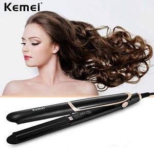 Утюжок випрямляч для волосся Kemei km-2219, (Оригінал)