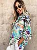 Стильный женский костюм прогулочный с трендовым принтом, размер S, M, L, креповая костюмка, двухнитка, фото 3