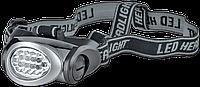 Налобный фонарь 8+2 светодиода