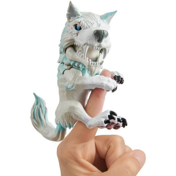 WowWee Fingerlings Интерактивный ручной волк Дикий 3962 Blizzard Untamed Dire Wolf