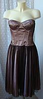 Платье вечернее элегантное нарядное гипюр бренд Linea р.48 3749а