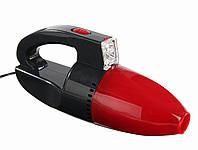 Автомобильный вакуумный пылесос с фонариком Car Vacum Cleaner пылесос для авто Красный