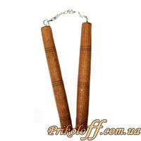 Деревянные нунчаки, стальная цепь