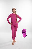 Женское повседневное термобелье Rough Radical Cute (original), теплое зимнее комплект Женский, M, Розовый