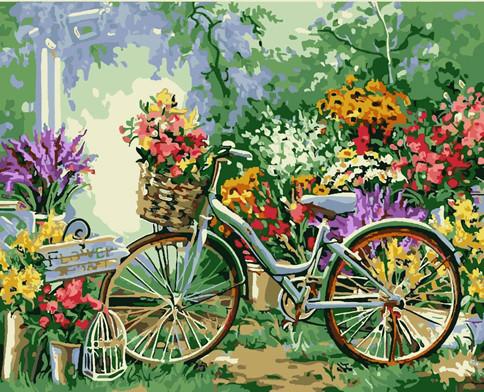 "Картина за номерами Art Craft ""Велосипед у квітах"" 40х50см, 12501"