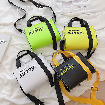 Яркая молодежная сумка Life is always sunny, фото 2