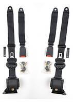 Ремни безопасности задних сидений Elegant 100 519 трехточечные инерционные с болтами, пара