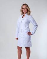 """Медицинский халат женский """"Health Life"""" коттон белый 3101"""