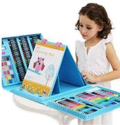 Набор для рисования и творчества в чемоданчике с мольбертом Super Mega Art Set 208 предметов - голубой