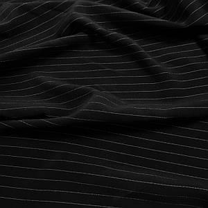 Костюмная ткань Кристина черная в полоску РАСПРОДАЖА