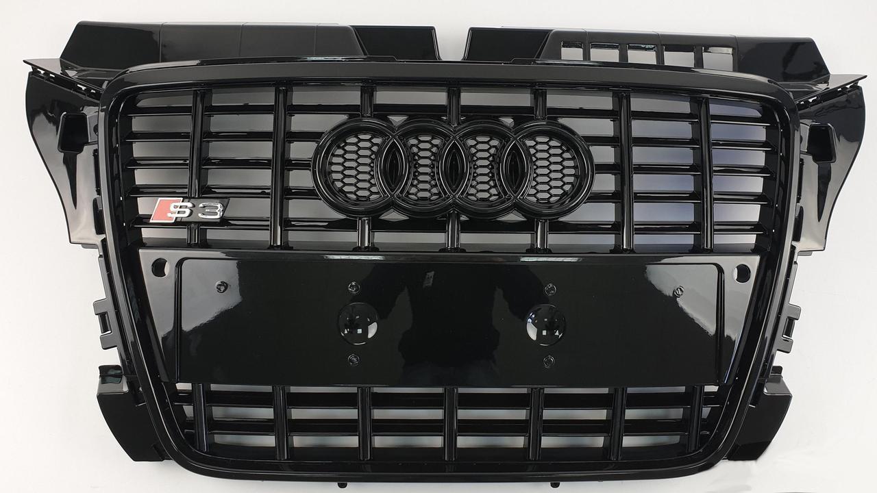 Решетка радиатора Audi A3 8P (08-12) стиль S3 (черная)
