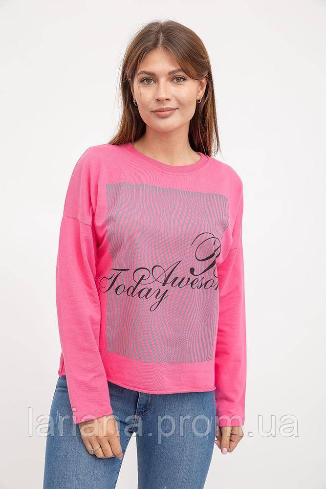 Свитшот женский 32P043 цвет Розовый