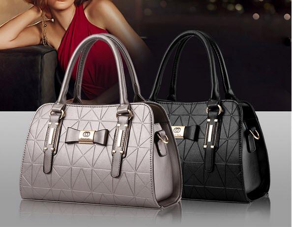Каркасні ділові сумки з візерунком