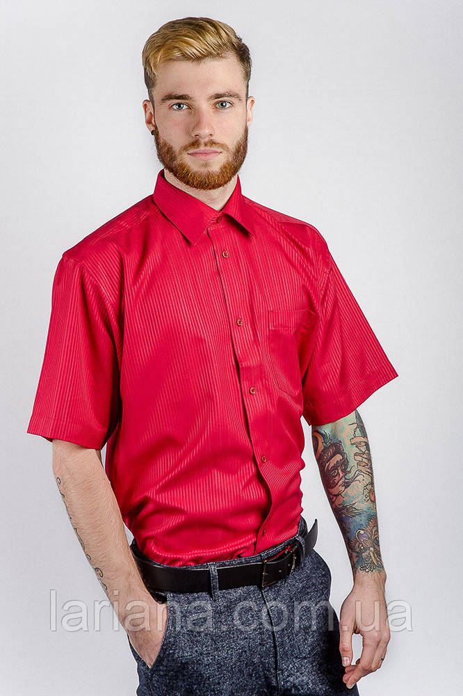 Рубашка Fra №1065-12 цвет Коралловый