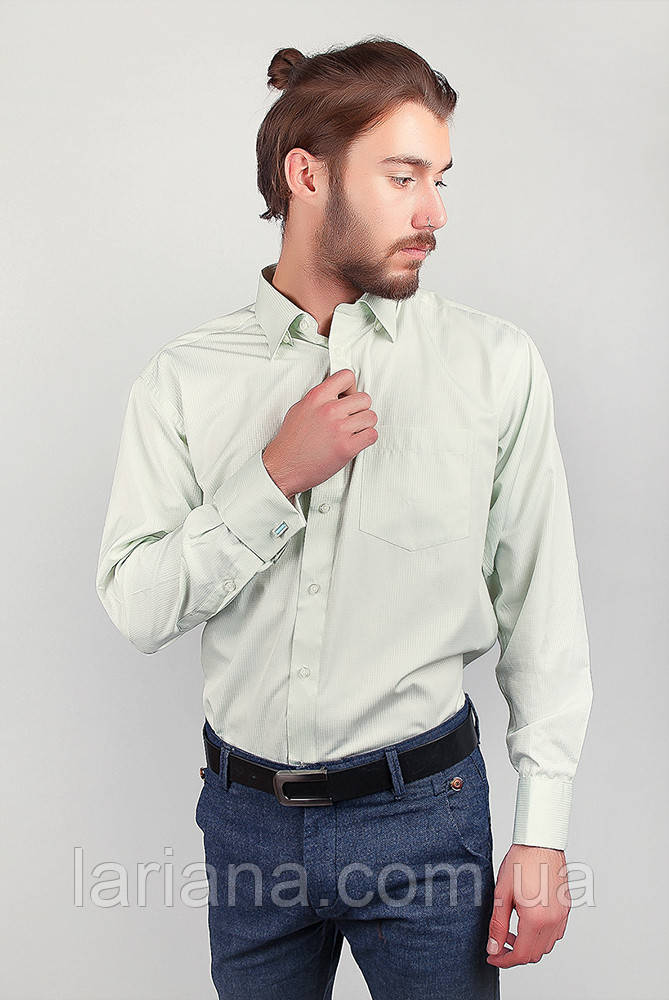 Рубашка Fra №868-16 цвет Светло-салатовый