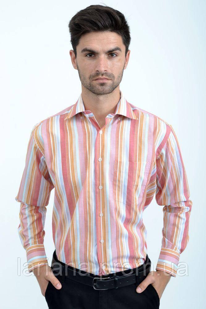Рубашка 732-4 цвет Красно-оранжевый