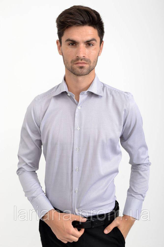 Рубашка 6C-904-9 цвет Серый, серая полоска