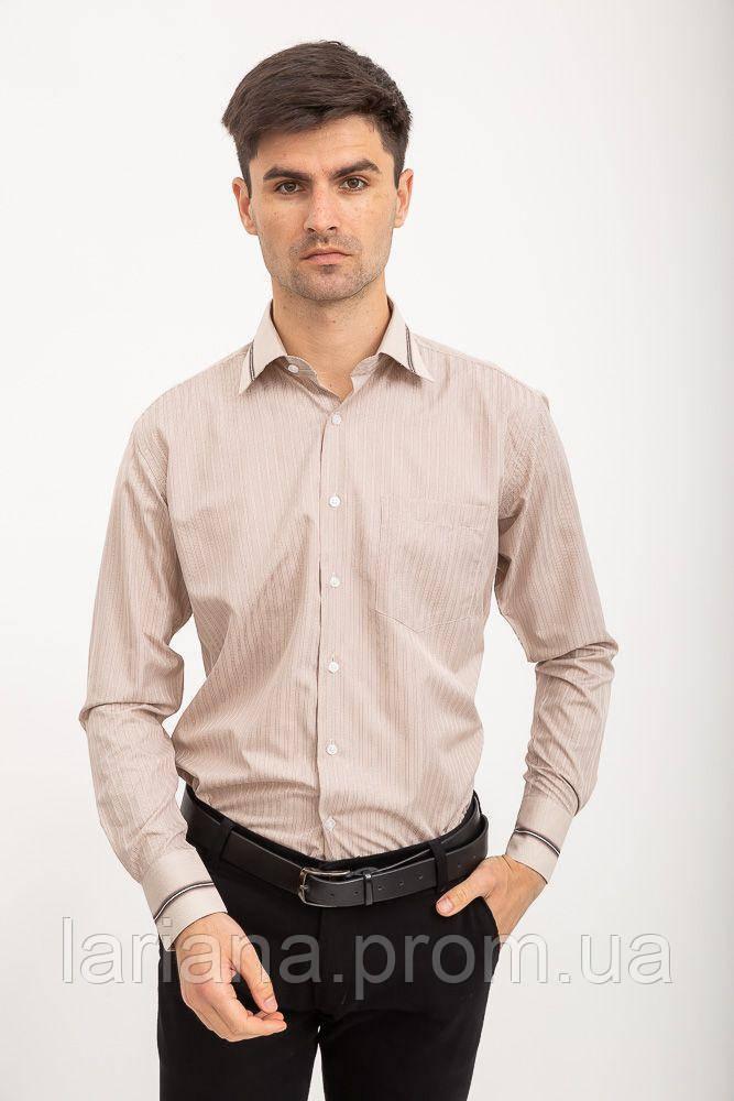 Рубашка 5-9060-15 цвет Бежевый клетка