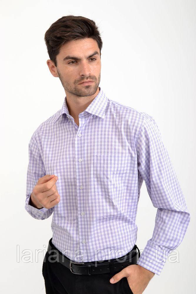 Рубашка 18#LS цвет Бело-сиреневый
