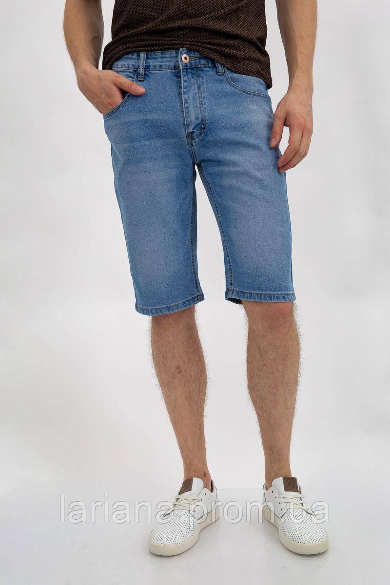 Джинсовые шорты муж 144R906-6A цвет Голубой